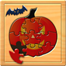 Kids Halloween Jigsaw Puzzle Logic and Memory Games for preschool children