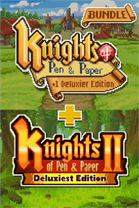 Carátula para el juego Knights of Pen and Paper Bundle de Xbox 360