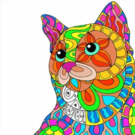 Get Cats Color By Number