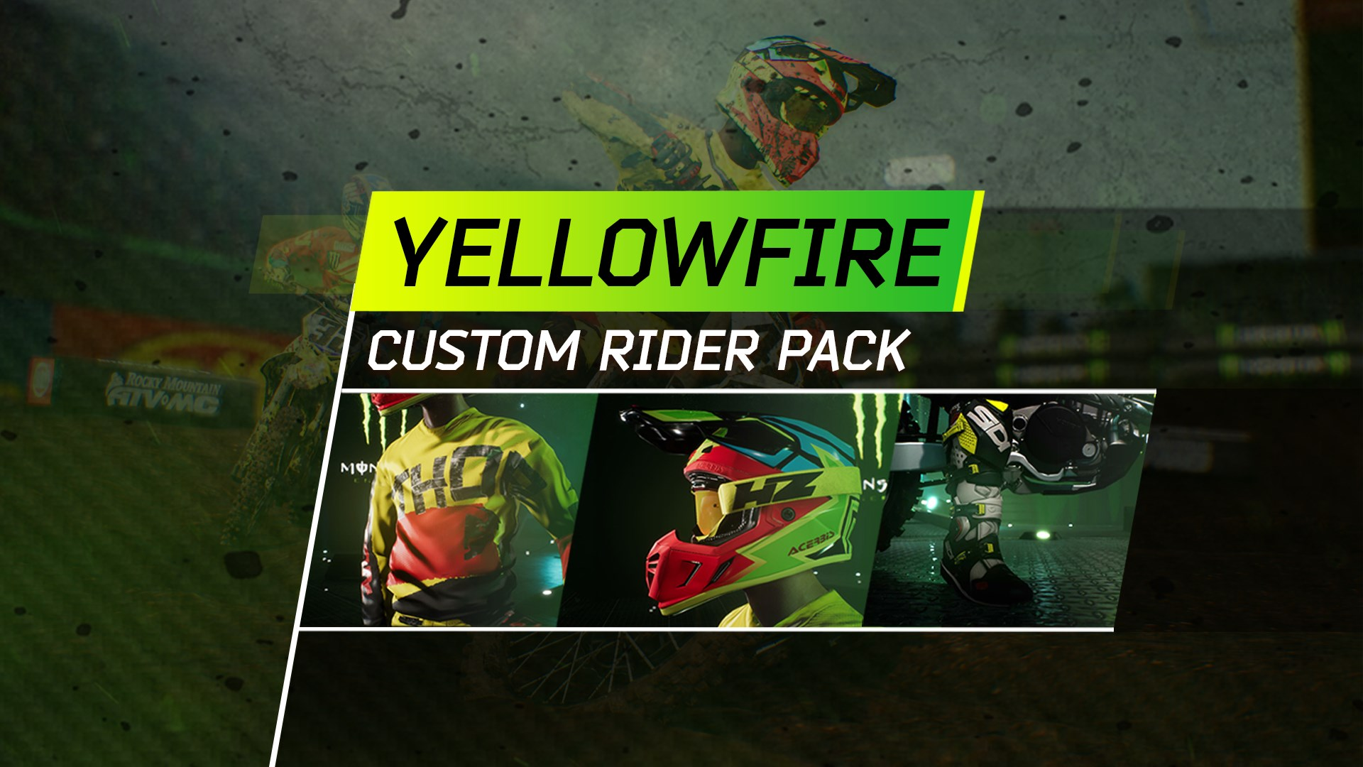 Monster Energy Supercross - Yellowfire Custom Rider Pack