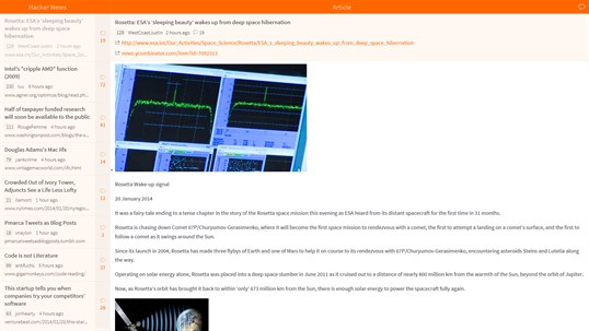 Hacker News Reader screenshot