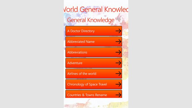 Get World General Knowledge - Microsoft Store