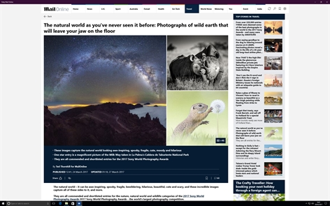 Daily Mail Online Screenshot