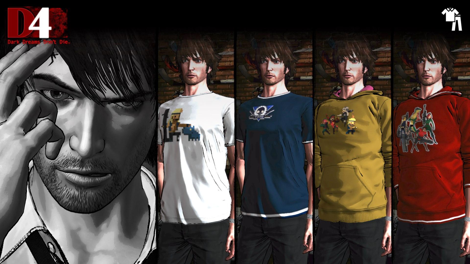 D4: Dark Dreams Don't Die - Super Time Force Clothing Set