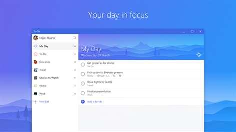 Microsoft To-Do Screenshots 1