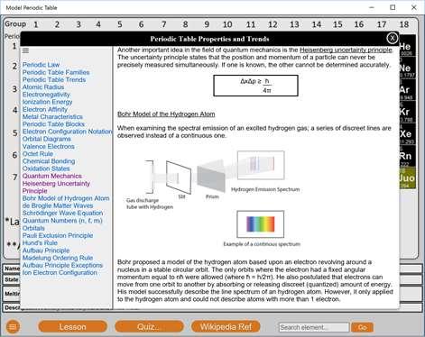 Get model periodic table microsoft store screenshot model periodic table lesson screen urtaz Gallery
