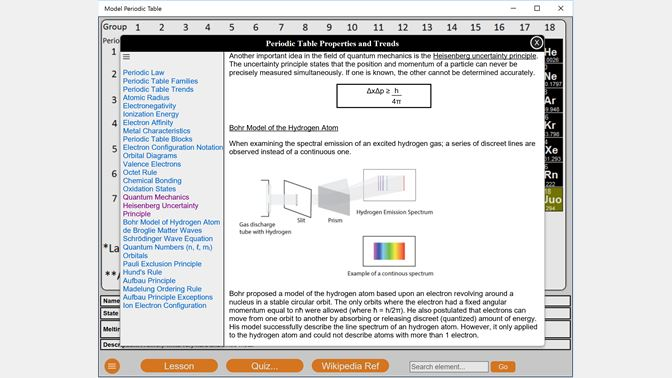 Get model periodic table microsoft store screenshot model periodic table lesson screen urtaz Images