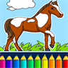 Coloring book: horses coloring pages