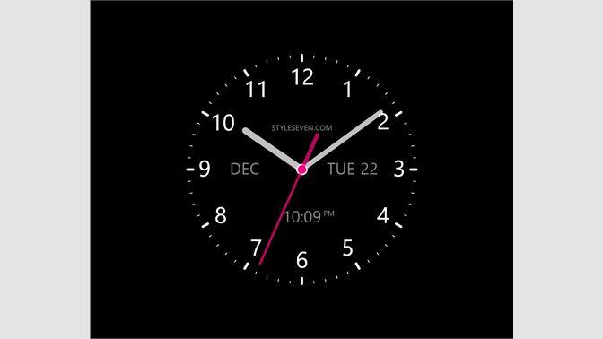 Get Analog Clock W-7 - Microsoft Store