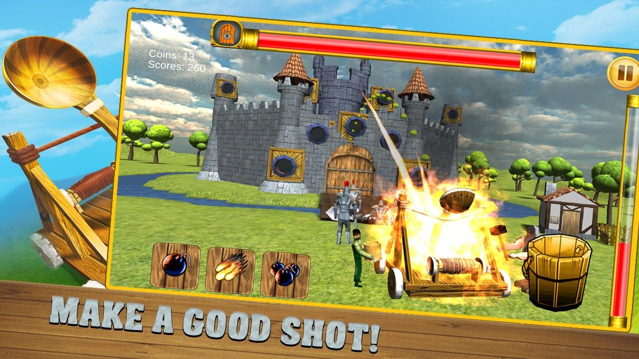 Castle Catapult 3D Free - Continuum Game