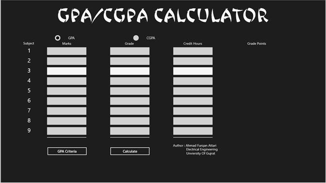 Get GPA/CGPA Calculator - Microsoft Store