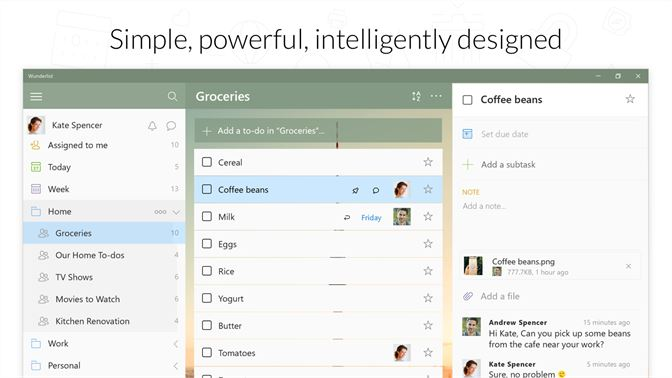 Get wunderlist to do list tasks microsoft store screenshot fandeluxe Choice Image
