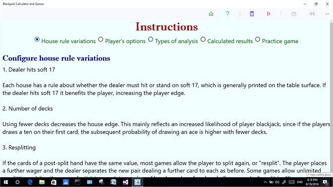 Buy Blackjack Calculator And Games Microsoft Store En Je