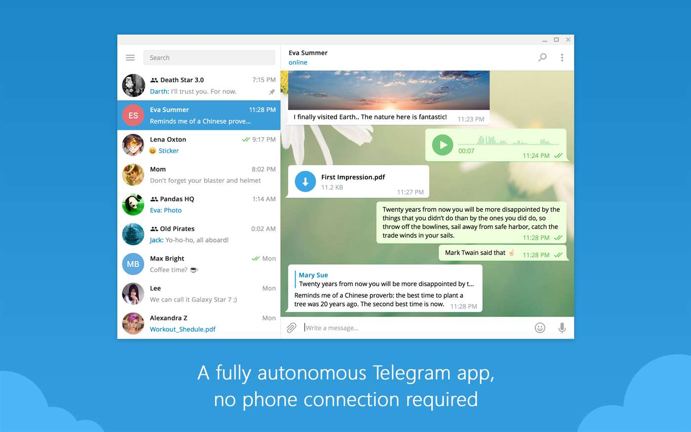 Telegram's desktop app gets improved video messaging