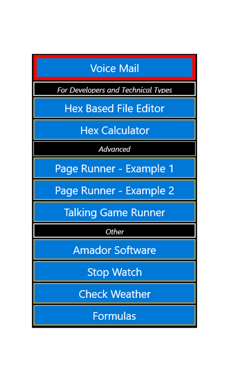 Amador App Builder Screenshot