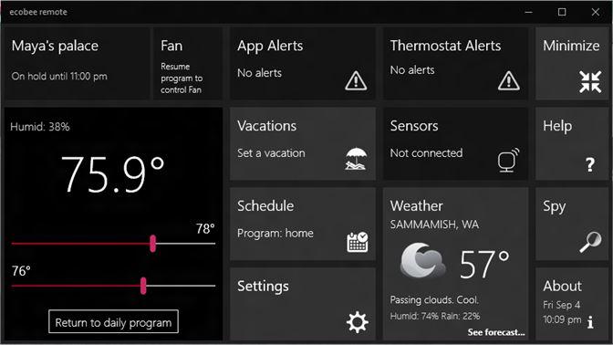 Get ecobee remote - Microsoft Store