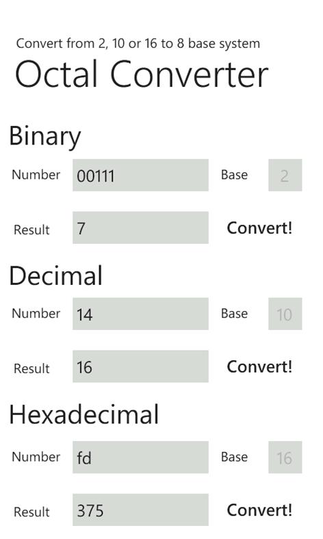 Octal Converter – Windows Apps on Microsoft Store