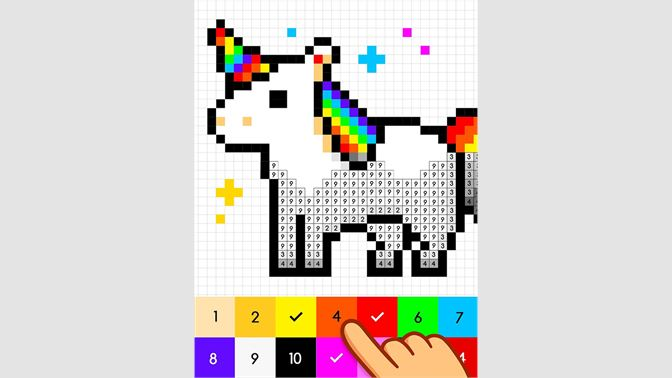Get Unicorn Sandbox Color By Number Pixel Art Microsoft Store