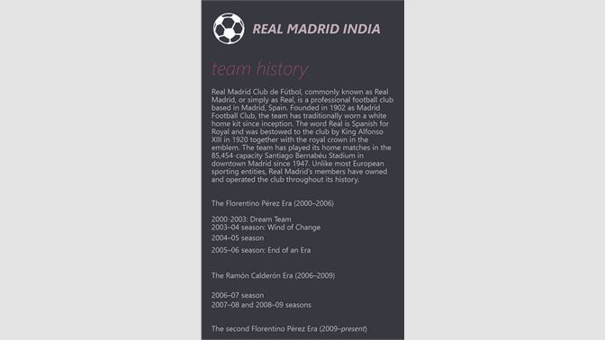 Get Real Madrid India - Microsoft Store