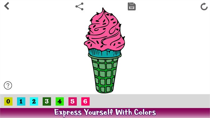 Ice Cream Color By Number - Food Coloring Book beziehen – Microsoft ...