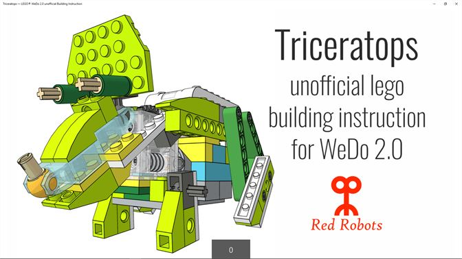 Buy Triceratops Lego Wedo 20 Unofficial Building Instruction