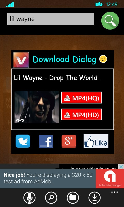Music Downloader for YouTube  Free Coverter to MP4 for Windows 10 Mobile