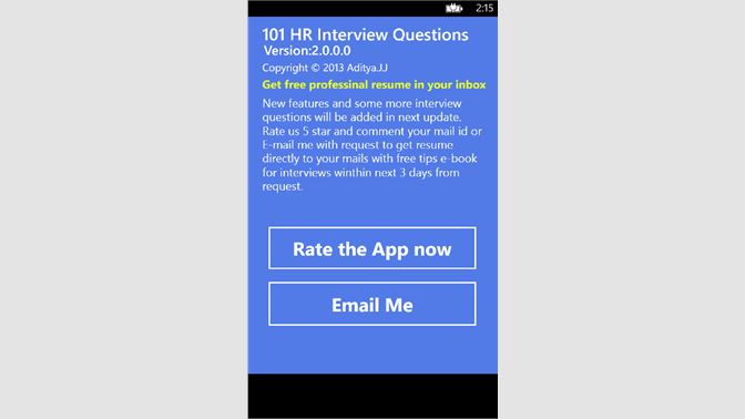 get 101 hr interview questions microsoft store