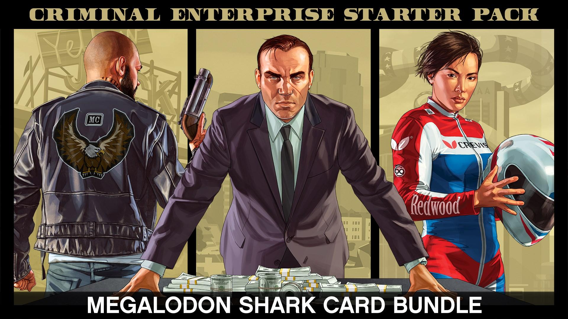 """Criminal Enterprise Starter Pack und CashCard """"Megalodon"""" im Bundle"""