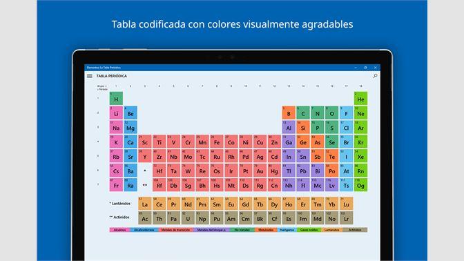 Obtener elementos la tabla peridica microsoft store es mx captura de pantalla captura de pantalla urtaz Image collections