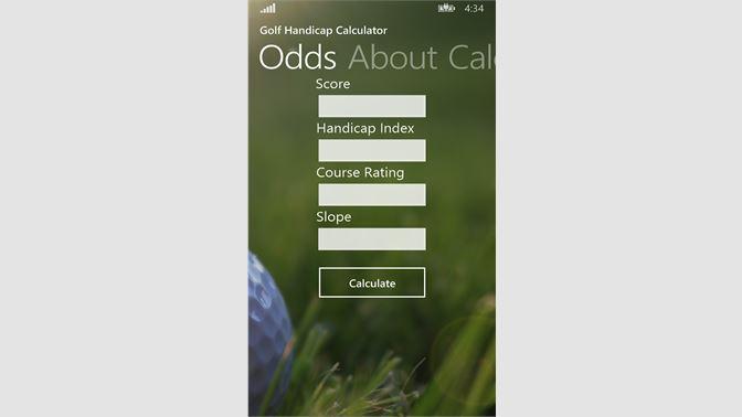 Get Golf Handicap Calculator - Microsoft Store en-PH