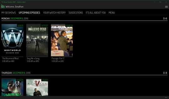 TV Show Tracker UWP - trakt.tv client screenshot 6