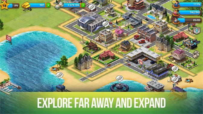 get paradise city island sim microsoft store
