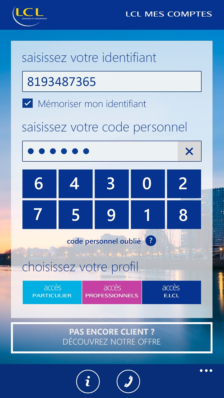 Mes Comptes Lcl Banque Et Assurance For Windows 10 Mobile