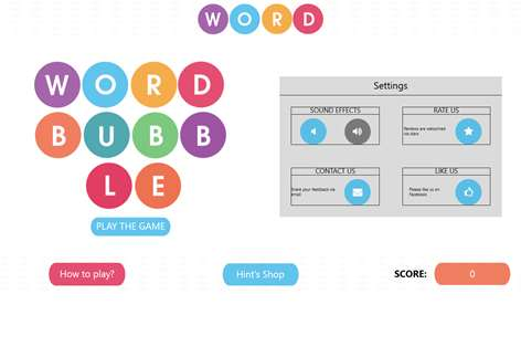 WordBubbles!-Addicting Word Game Screenshots 2