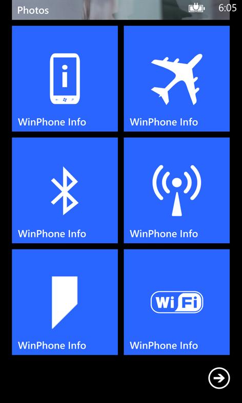 WinPhone Info Free Screenshots 1