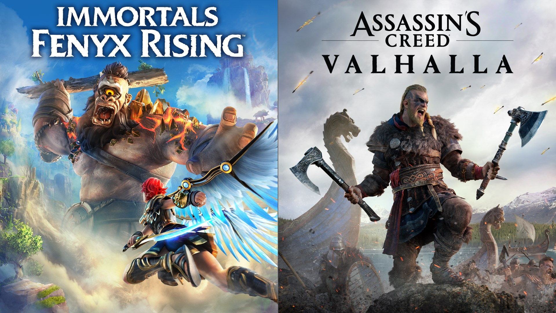 Pacote Assassin's Creed Valhalla + Immortals Fenyx Rising