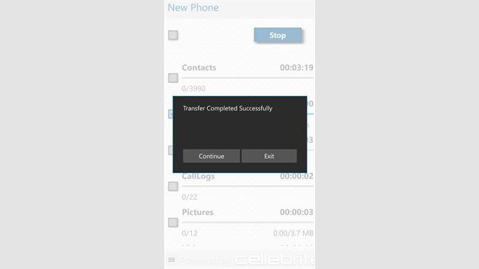 Get Cellebrite Transfer App for WP10 - Microsoft Store