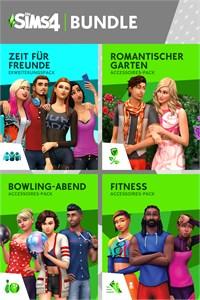 Die Sims™ 4 Back to School Bundle - Zeit für Freunde, Romantische Garten-Accessoires, Bowling-Abend-Accessoires, Fitness-Accessoires