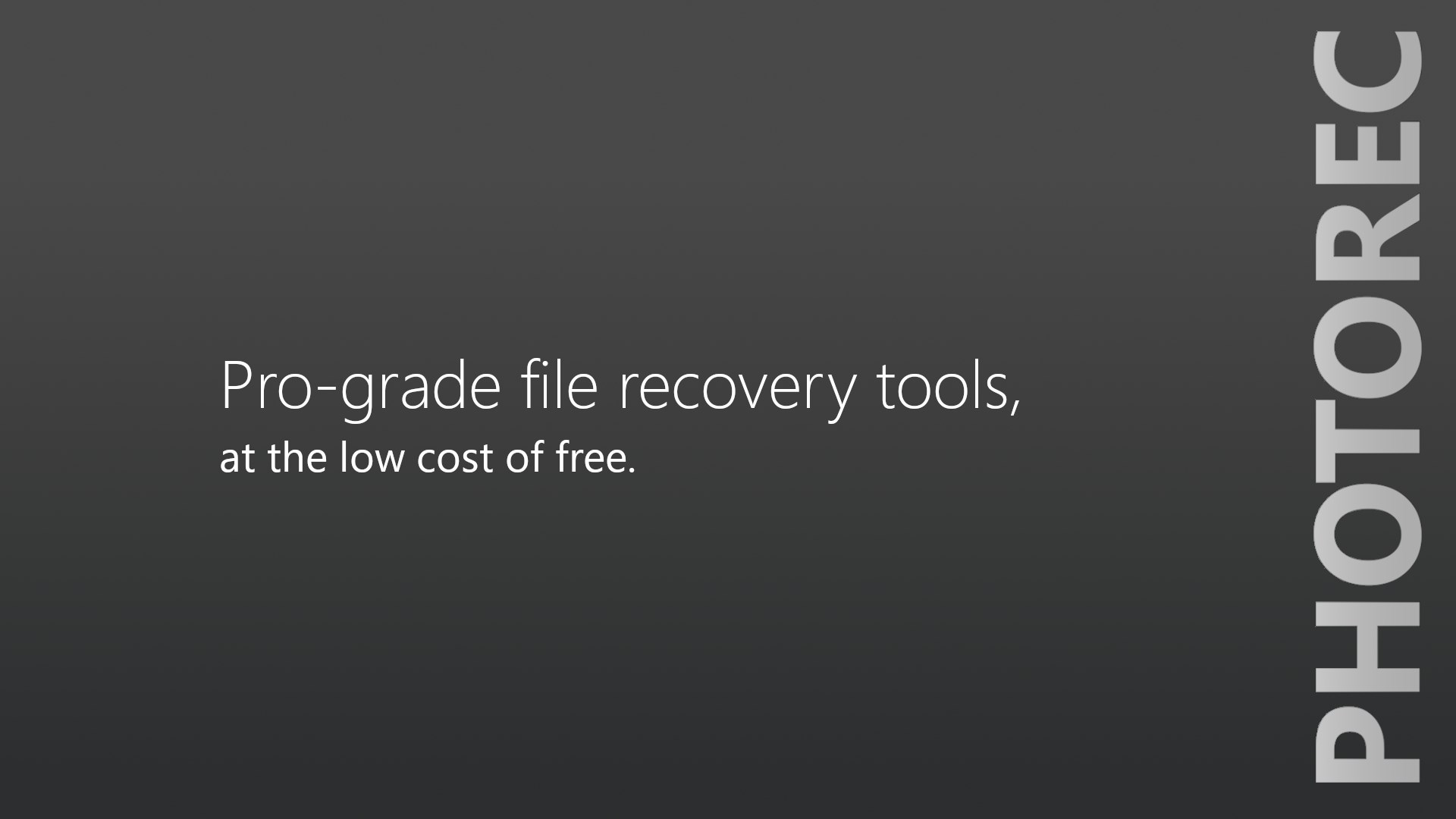 Get PhotoRec Recovery Suite - Microsoft Store