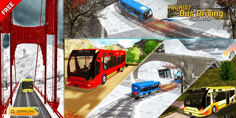 Get Tourist Bus Driving Simulator - Hill Top Road Ride