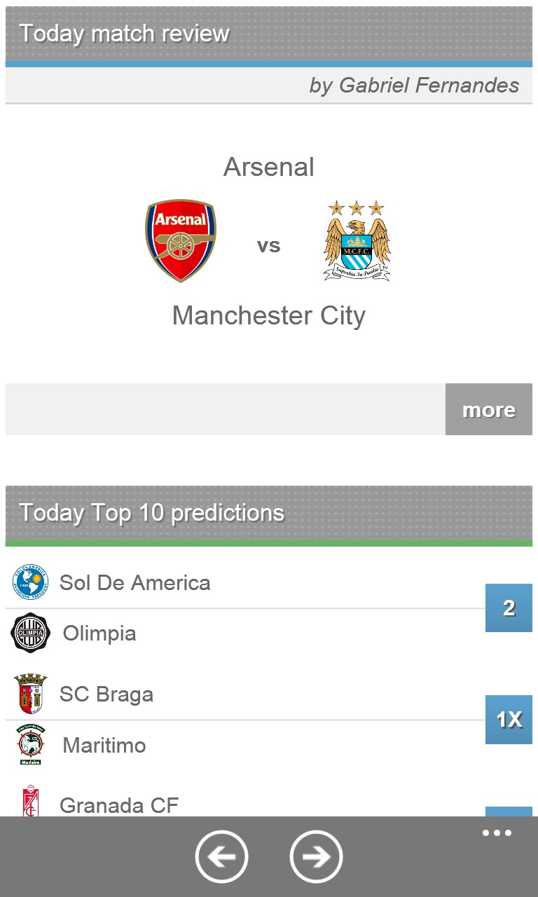Statarea Football Prediction for Windows 10 Mobile