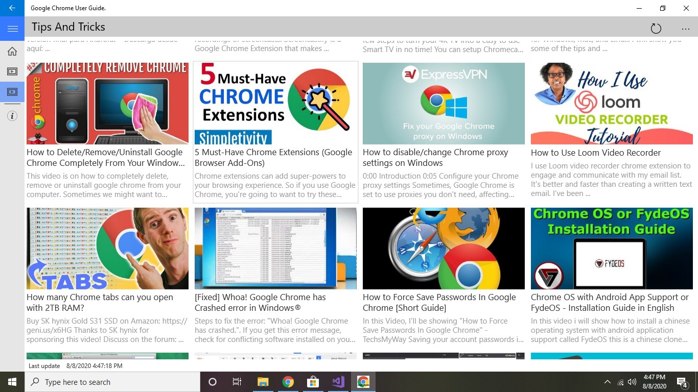 Captura de Pantalla 1 de Google Chrome Easy App Guide para windows