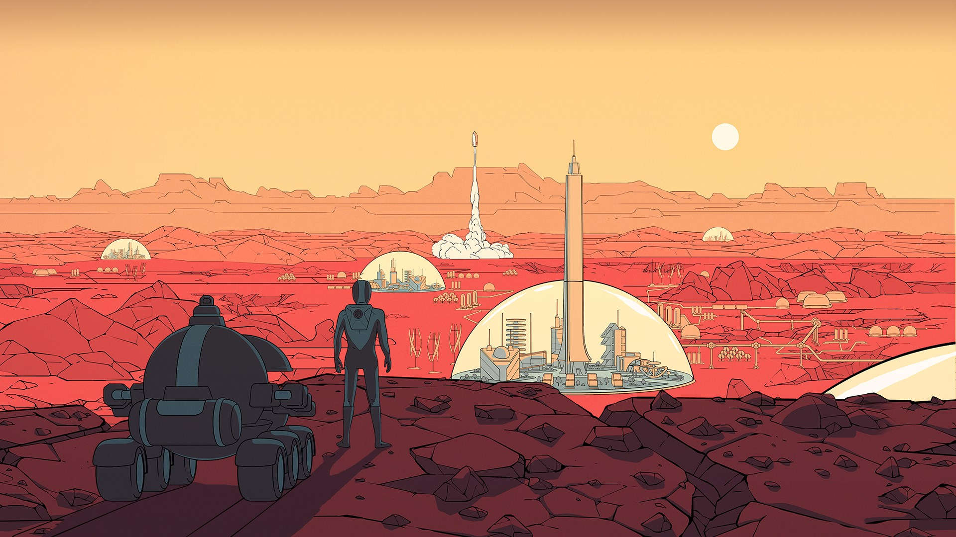 Surviving Mars - Stellaris Dome Set