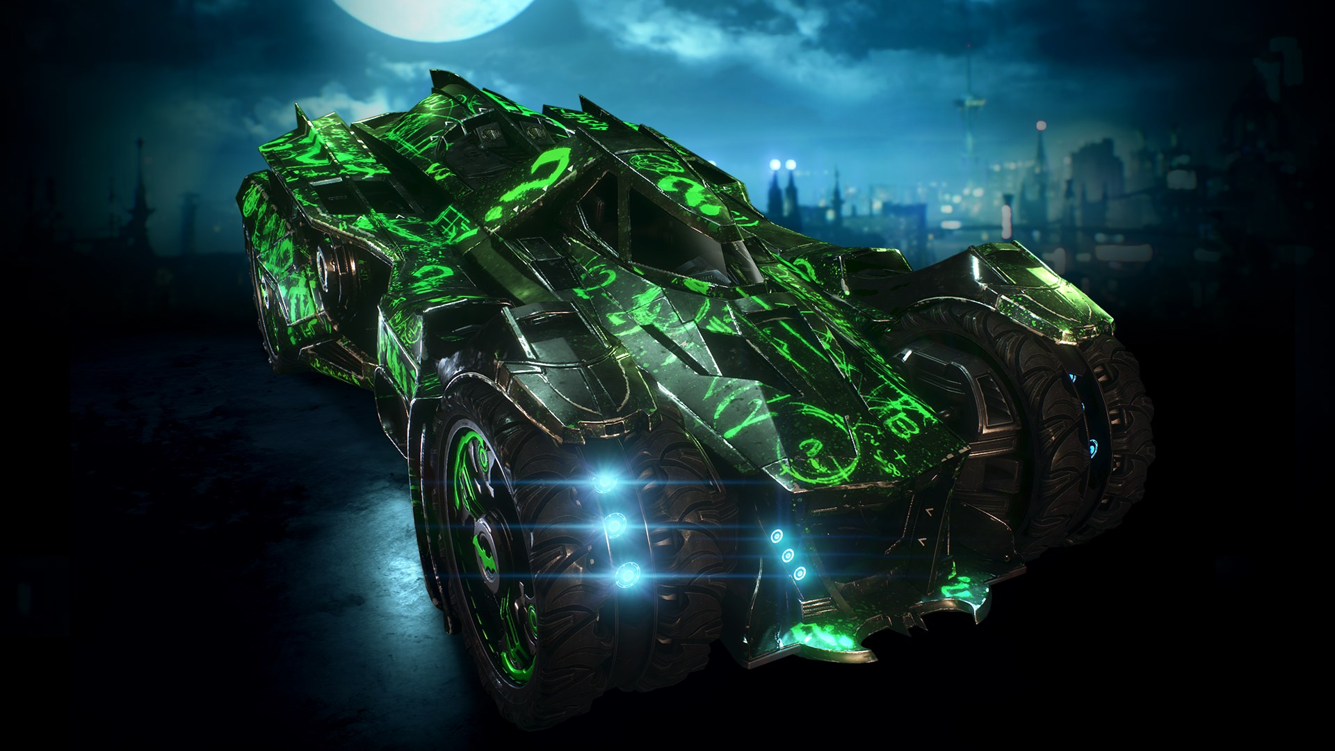 Riddler Themed Batmobile Skin