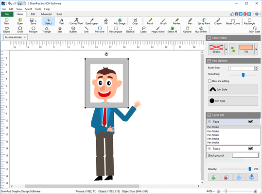 DrawPad Graphic Design Editor Free screenshot 2