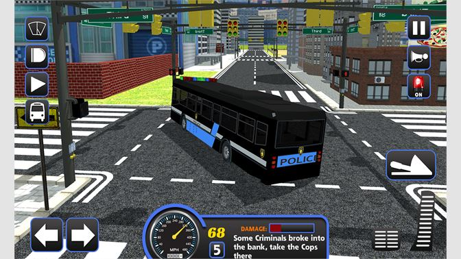 Get Police Bus Staff Duty Transport 3D - Pick and Drop