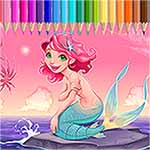 Mermaid Coloring Princess For Kids