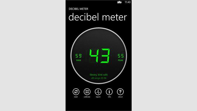 Get Decibel Meter - Microsoft Store