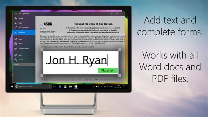 Buy PDF Fill & Sign - Microsoft Store