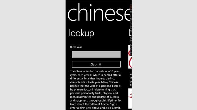 Get Chinese Zodiac Microsoft Store